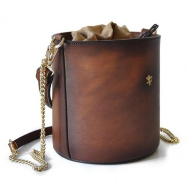 "Leather Lady bag ""Secchiello"""
