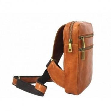 "Leather man bag ""Singapore"" DB"