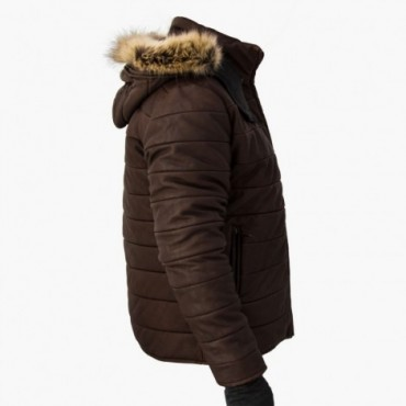 """Leather man padded jacket """"Unico"""""""