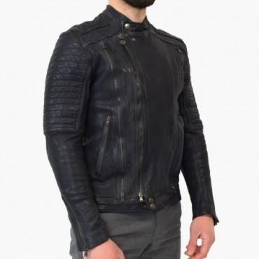 "Leather man jacket ""Moto"" SZ"