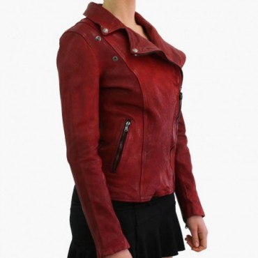 "Leather Lady jacket ""Chiodo"""