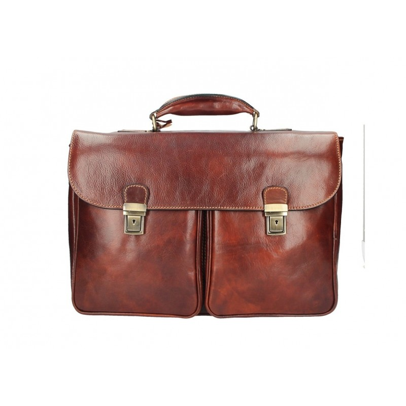 "Leather Briefcase ""Rybnik"""