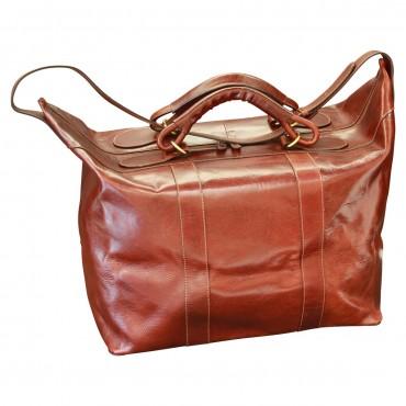 "Leather travel bag ""Słupsk"""