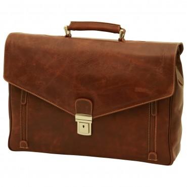 Leather Unisex Briefcase...