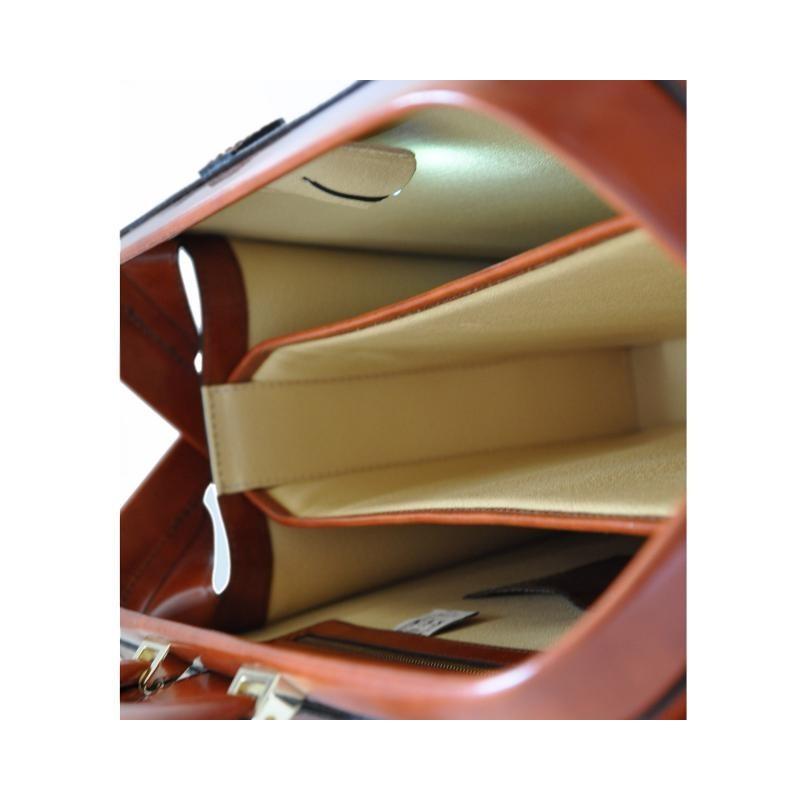 "Leather briefcase ""Leonardo"" R525G"