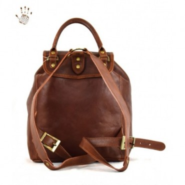 Leather Woman Backpack...