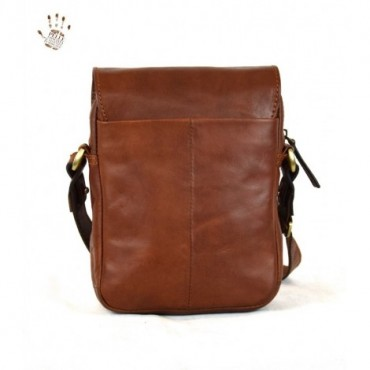 """Leather Man bag """"Cannelle"""""""