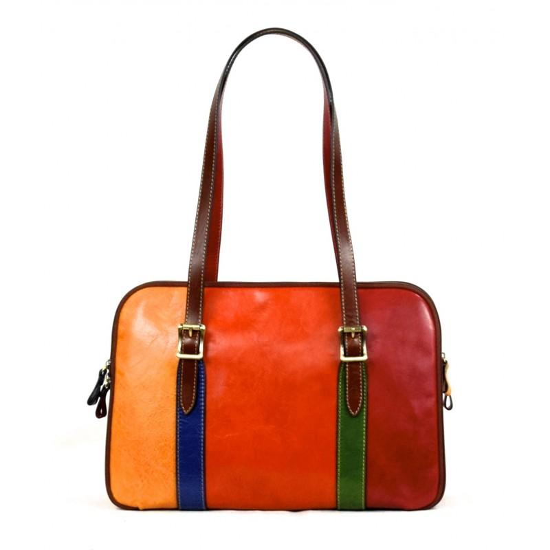 "Leather Lady bag ""Fiora"" Multicolor"
