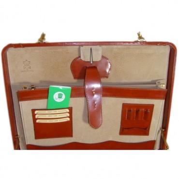"""Leather briefcase 24 H """"Tiziano"""" R499"""