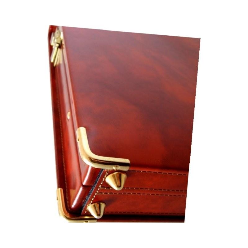"Leather briefcase 24 H ""Machiavelli Slim"""