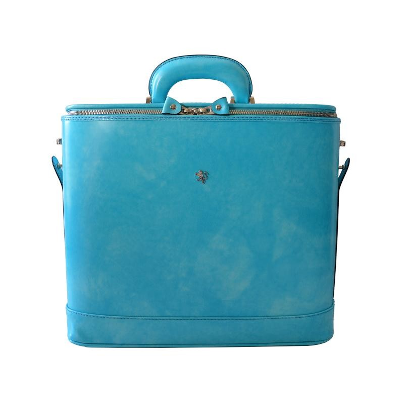 """Leather briefcase """"Raffaello"""" R116-15"""