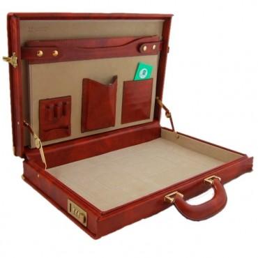 "Leather briefcase 24h ""Machiavelli Slim"" C"