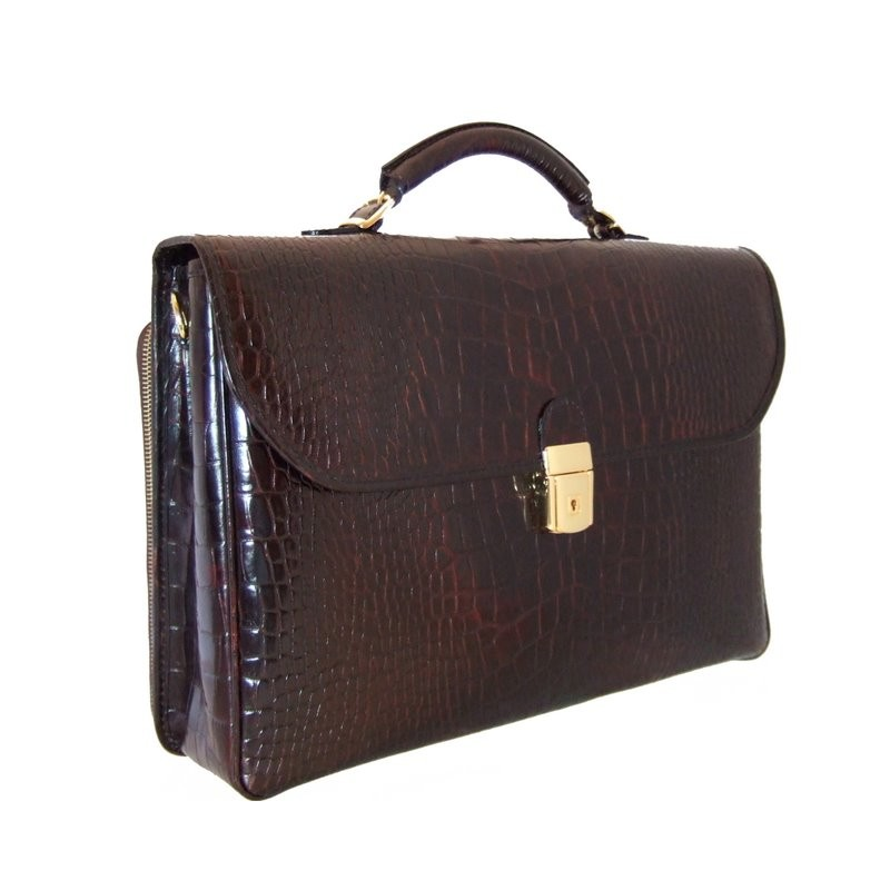 """Leather briefcase """"Piccolomini"""" K604"""