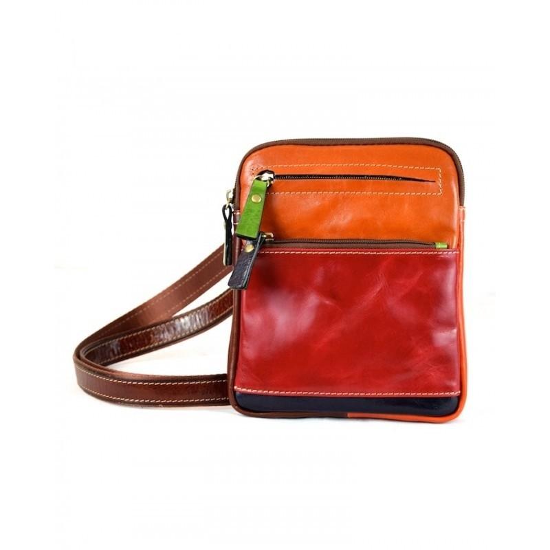 "Leather Man bag ""Ilviero"" Multicolor"