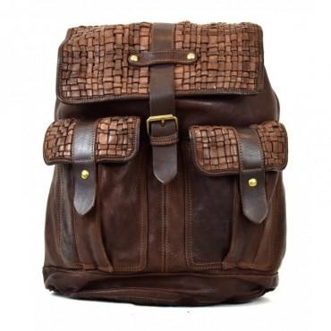 """Leather back pack """"Aldo G"""""""