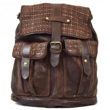 """Leather back pack """"Aldo M"""""""