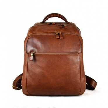 "Leather backpack ""Ombrone"" B"