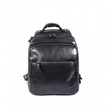 "Leather backpack ""Ombrone"" BL"