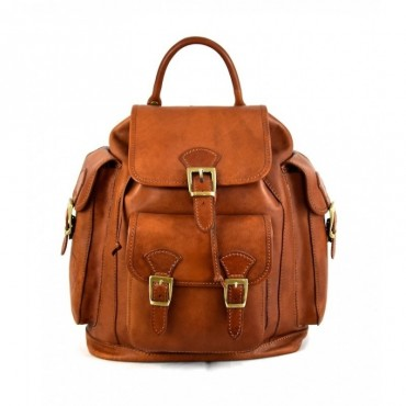 """Leather Backpack """"Sovana"""""""