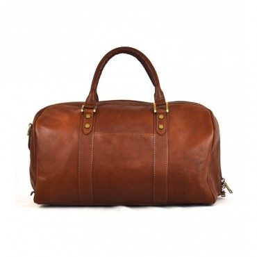 "Leather Travel bag ""Ginestra"""