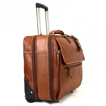 """Leather Trolley """"Morellino"""""""