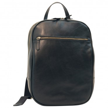 """Leather backpack """"Malbork"""" BL"""