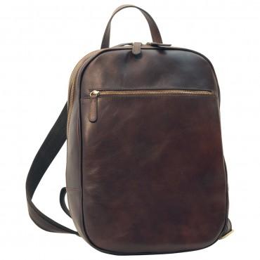 "Leather backpack ""Malbork"" DB"