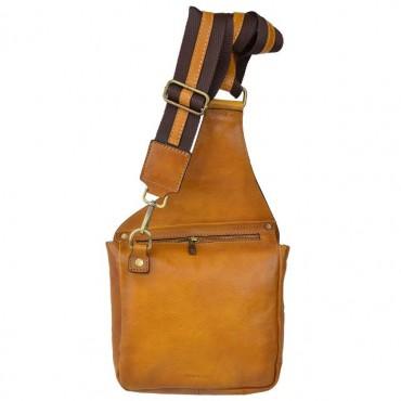 "Leather Man bag ""Bisaccia"" PE"