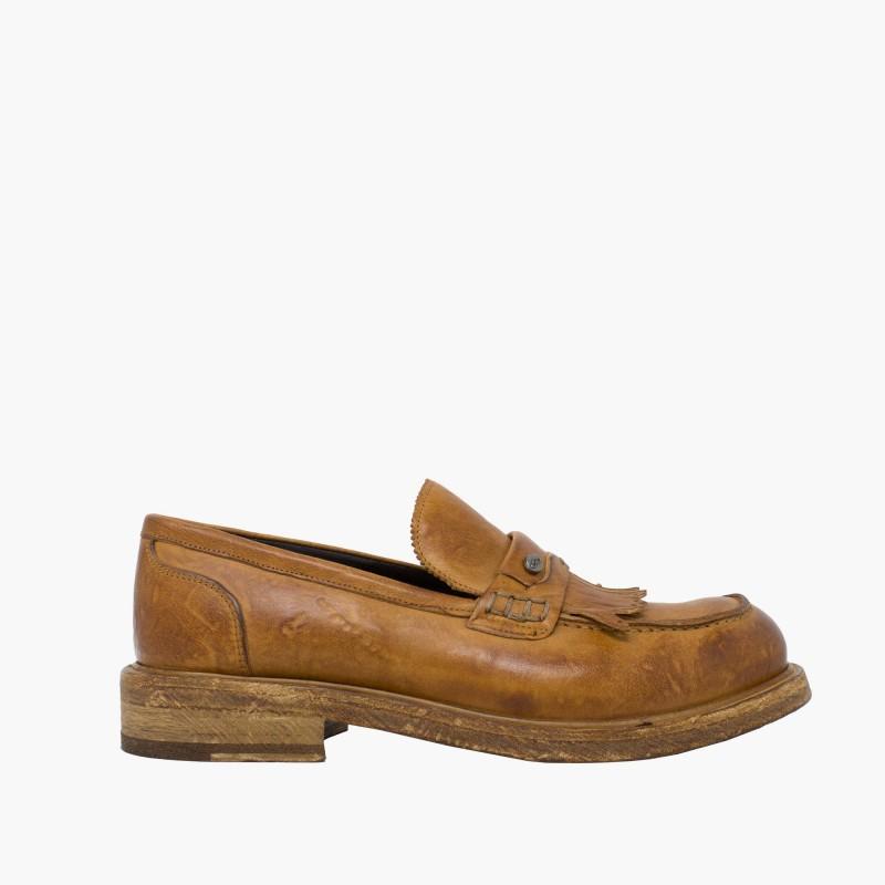 """Leather men shoes """"Mocassino Frange"""""""