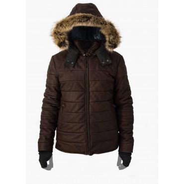 Leather man padded jacket...