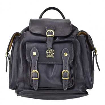 "Leather Backpack ""Montalbano"""