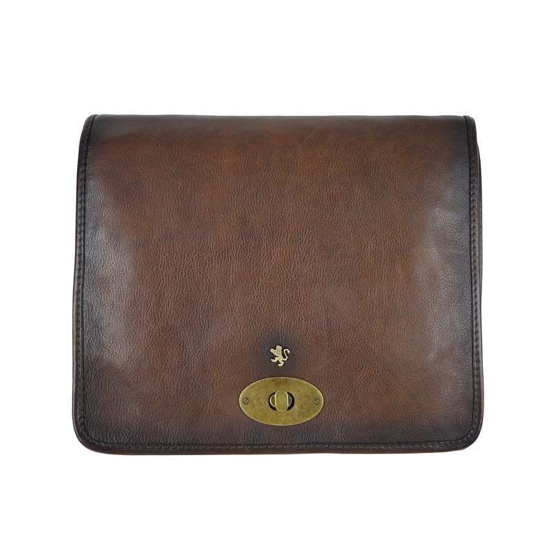"""Leather shoulder bag """"Portalettere"""""""