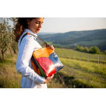 "Leather Lady bag ""Montieri"" Multicolor"