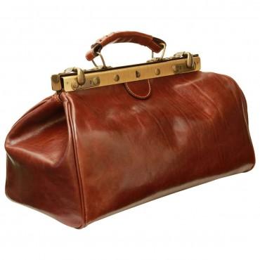 "Leather Doctor bag ""Kartuzy"""