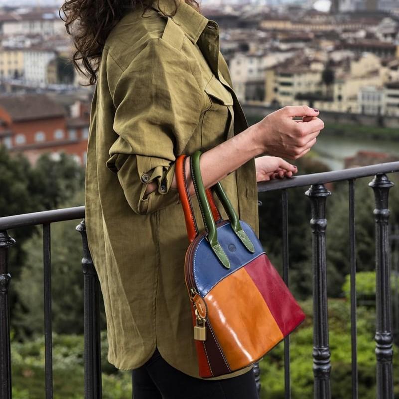 """Borsa donna in pelle """"Angela"""" Multicolor"""