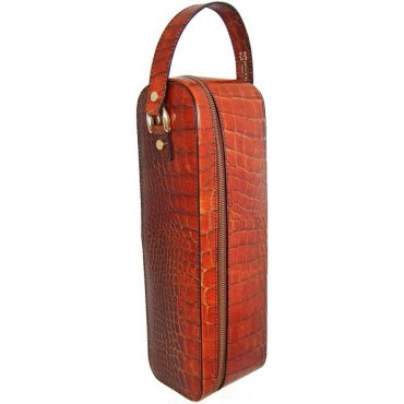 """Leather winecase """"Bacco"""" K"""