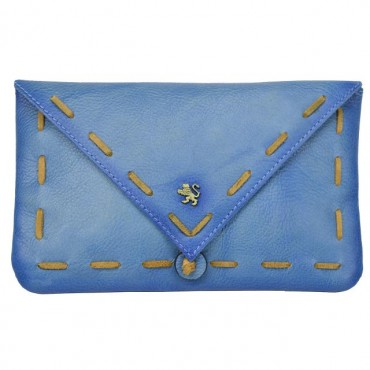 """Leather pochette """"Mail From..."""
