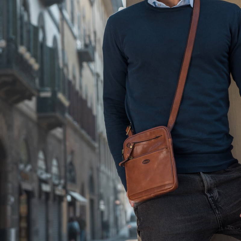 "Leather Man bag ""Ilviero"""