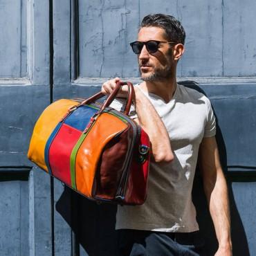 "Leather Travel bag ""Viburno..."
