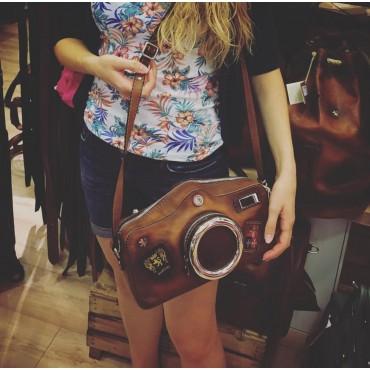"Leather Lady bag ""Fotocamera"""