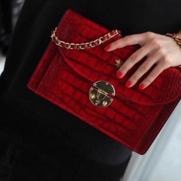 "Leather Lady bag ""Tullia d'Aragona"" KE"