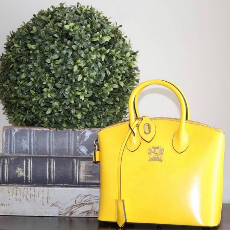 "Leather Lady bag ""Versilia"" R348-P"