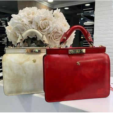 "Leather Lady bag ""Vittoria Colonna"" R153"