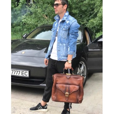 """Leather Travel bag """"Mary Poppins"""""""