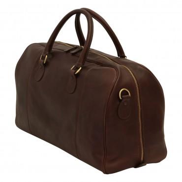 Leather duffel bag...