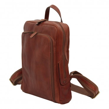 """Leather backpack """"Goleniów"""" BR"""