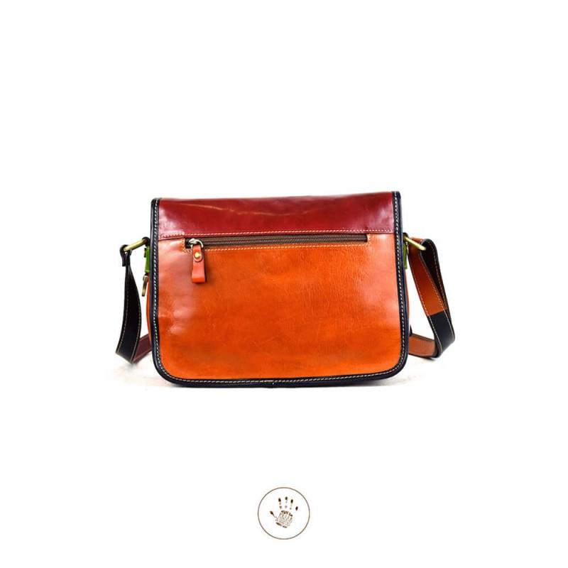 "Leather Lady bag ""Toscana"" Multicolor"