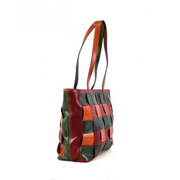 "Leather Lady bag ""Aneta"""