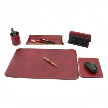 """Leather desk kit """"Warszawa"""" RO"""