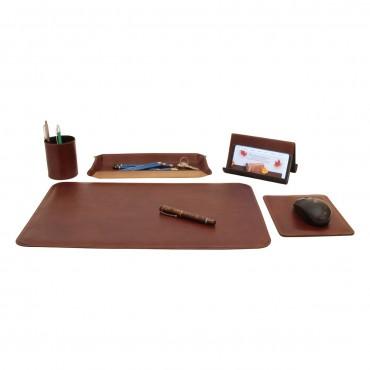 "Leather desk kit ""Warszawa"" MA"